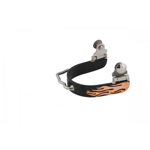 """METALAB BLACK SATIN FLAME BUMPER SPUR WITH 3/4"""" BAND"""