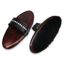 CLASSIC HORSE HAIR BODY BRUSH WITH CRYSTAL HAND STRAP