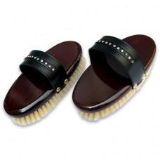 CLASSIC GOAT HAIR BODY BRUSH WITH CRYSTAL HAND STRAP