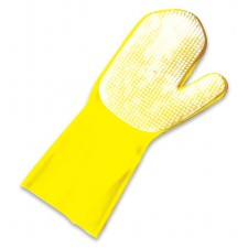 LATEX CLEANING GLOVE WITH PALM CURRY COMB