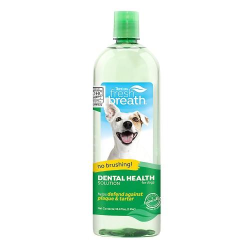 TROPICLEAN FRESH BREATH DENTAL SOLUTION FOR DOGS, 1 L
