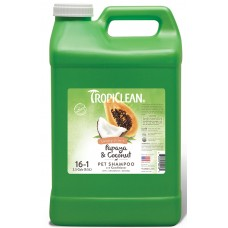 TROPICLEAN PAPAYA & COCONUT LUXURY 2 'N 1 SHAMPOO - 9. 47 L 10:1 CONCENTRATE