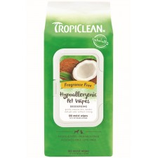 TROPICLEAN HYPO ALLERGENIC WIPES FOR PETS, 100 COUNT