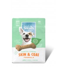 TROPICLEAN FRESH BREATH SKIN & COAT DENTAL CHEWS, 20 PER PACK