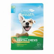 TROPICLEAN FRESH BREATH PEANUT BUTTER DENTAL CHEWS, 10 PER PACK