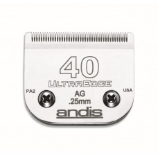 ANDIS AG DETACHABLE BLADES - #40 SURGICAL STAINLESS STEEL
