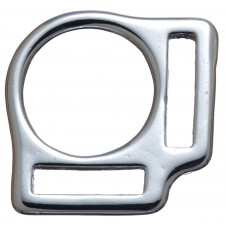 """2 LOOP SQUARE - 1"""" X 1 1/8"""" CHROME PLATED BRONZE"""