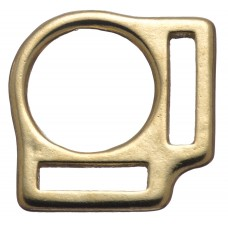 "2 LOOP SQUARE - 1"" X 1 1/8"" SOLID BRONZE"