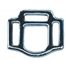 """3 LOOP SQUARE - 1"""" X 1 1/4"""" CHROME PLATED BRONZE"""