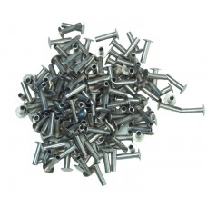 TUBULAR RIVETS - NICKEL PLATED - 4/16""