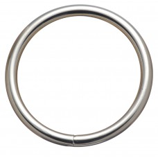 "HARNESS RINGS WELDED - 3 1/2"" NICKEL PLATED"