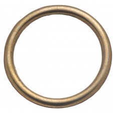 """HARNESS RINGS, WELDED - 1 1/2"""" BRASS PLATED"""