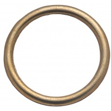 "HARNESS RINGS, WELDED - 1 1/2"" BRASS PLATED"