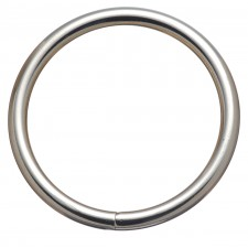 """HARNESS RINGS - 1 1/2"""" SOLID CHROME PLATED BRONZE"""