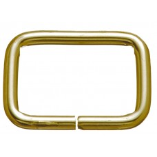 "WIRE LOOPS NOT WELDED - 3/4"" BRASS"