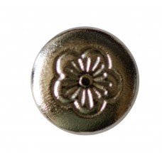 CHICAGO SCREWS WITH FLORAL HEADS NICKEL PLATED BRASS - SCREW ONLY - 5MM