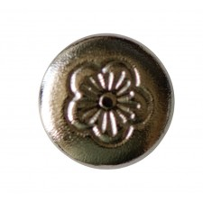 CHICAGO SCREWS WITH FLORAL HEADS NICKEL PLATED BRASS - SCREW ONLY - 7.5MM