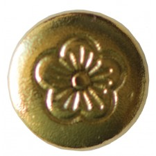 """CHICAGO SCREWS WITH FLORAL HEADS NICKEL PLATED BRASS - POST ONLY - 1/4"""""""