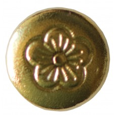 """CHICAGO SCREWS WITH FLORAL HEADS NICKEL PLATED BRASS - POST ONLY - 1/2"""""""