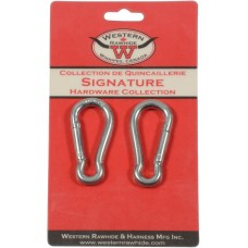 "ZINC PLATED SPRING HOOK 6MM, 1/4"" X 2 1/2"" - 2 PER CARD"