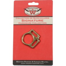 "SOLID BRONZE 2 LOOP HALTER SQUARE, 3/4"" X 1"" - 1 PER CARD"