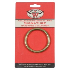 """SOLID BRONZE HARNESS RINGS, 2"""" - 1 PER CARD"""