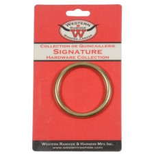 "SOLID BRONZE HARNESS RINGS, 2"" - 1 PER CARD"