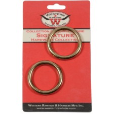 """SOLID BRONZE HARNESS RINGS, 1 1/2"""" - 2 PER CARD"""