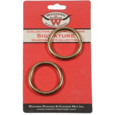 "SOLID BRONZE HARNESS RINGS, 1 1/2"" - 2 PER CARD"
