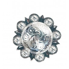 BERRY CONCHO SILVER COLOURED - 3/4""