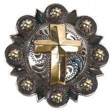 BERRY/CROSS CONCHO NICKEL/GOLD - 1 1/2""