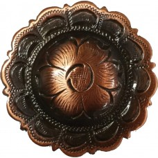COPPER FLOWER CONCHO - 1""