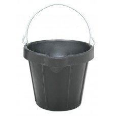 FORTEX HEAVY DUTY RUBBER PAIL WITH LIP, 12 QT/11 L
