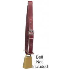 "LEATHER BELL COLLAR - 1 1/2"" X 44"""