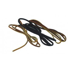 """LEATHER LACES - 3/16"""" WIDE, BROWN ALUM TAN (YELLOW CENTER)"""